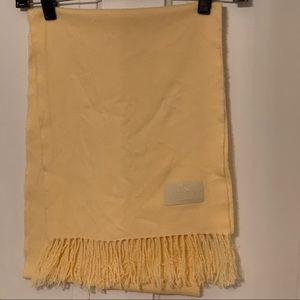 Coach pale yellow scarf GUC